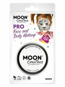 Moon Creations Pro Face Paint Cake Pot, White Facepaint/Party Makeup