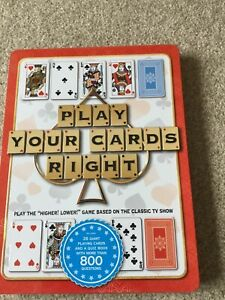 Play Your Cards Right  Game Tin 26 Giant playing cards Excellent condition