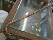 "Antiq 19th Century walking cane stick w. english ster silver mount Monogram ""A"""