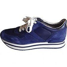 Celebrity HOGAN TODS platform flatform trainers sneakers blue white 37 US 6.5 7