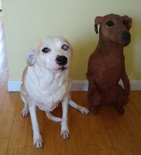 Full Life Size Sculpture paper papier mache smooth coat Fox Terrier