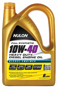 Nulon Full Synthetic Heavy Duty Diesel Engine Oil 10W40 6L SYND10W40-SIX fits...