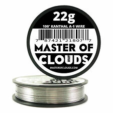 100 ft - 22 Gauge AWG A1 Kanthal Round Wire 0.64mm Resistance A-1 22g GA 100'