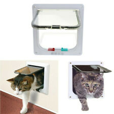 Dog Cat Mate 4 Way Locking Large Small Mini Dog Flap White Catflap Pet Door