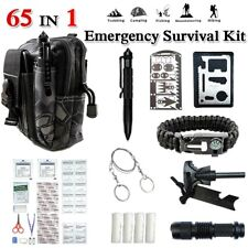 65 in 1 Emergency Survival Backpack Kit Outdoor Tactical Camping Hiking EDC Gear