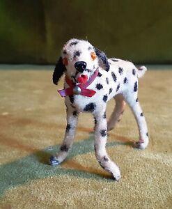Kunstlerschutz Flocked Dalmatian Vintage Dog Figurine