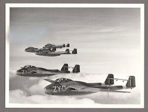 DE HAVILLAND VAMPIRE FORMATION RAF ORIGINAL MANUFACTURERS PHOTO
