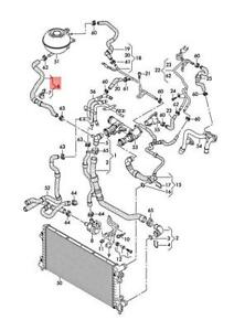 Genuine AUDI SKODA SEAT A1 Rapid Toledo 8XF 8XK NH1 Coolant Hose 6C0122109E