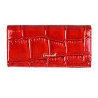 women genuine leather long wallet purse alligator multifunction credit card case