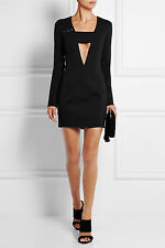 Anthony Vaccarello Eyelet Embellished Crepe Mini Dress SZ 38 = US Fits 2-4 NWT