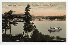 CANADA carte postale ancienne From rose point, PARRY SOUND Georgian bay district