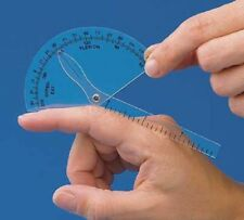 New Finger Goniometer Measure Flexion Hyper-extension Clear Plastic US Shipping