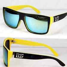 New DG Eyewear Mens Square Yellow Mirrored Lens Sunglasses Shades Pilot Designer