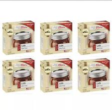 Kerr Regular Mouth Mason Canning Jar Lids - 6 Boxes (72 Lids Total) - Brand New