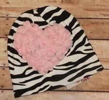 Lollipop Moon Pink Zebra Love Baby Beanie  0-12 Months