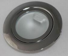 5er Set Möbeleinbaustrahler starr Metall 12V G4 eisengebürstet für 12V G4  #19