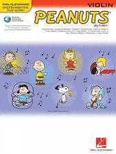 Peanuts for Violin Instrumental Play-Along Book and Audio NEW 000842437