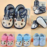 Cute Newborn Kids Girl Boy Cloth Soft Sole Crib Toddler Shoes Canvas Sneaker