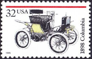 US - 1995 - 32 Cents 1898  Columbia Classic Automobile Issue #3021 Mint NH F-VF