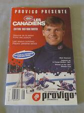 Original NHL Montreal Canadiens 1987-88 Official Provigo Hockey Media Guide