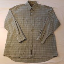 Thomas Cook Mens Size Large Long Sleeve Shirt Green Collared Button -SE30