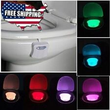 Toilet Night Light 8 Color LED Motion Activated Bathroom Toilet Seat Bowl US SP