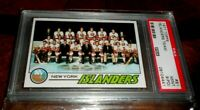 🏒NEW YORK ISLANDERS 🏒1977 TOPPS  CONSECUTIVE STANLEY CUPS🏒PSA 9 PD