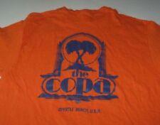 Vintage 70's Hanes Orange T-shirt 100% Cotton Sz Large Made in USA