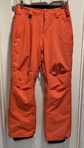 QUICKSILVER Driflight Orange Snowboard Snow Ski Pants Size 14 EUC