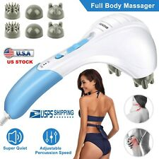 Massager Full Body Handheld Electric Vibrating Double Head Neck Back Body Relax