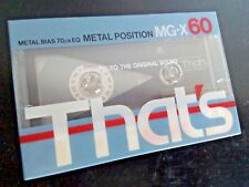 CASSETTE TAPE BLANK SEALED - 1x (one) THAT'S MG-X 60 [1985-86] METAL Taiyo Yuden