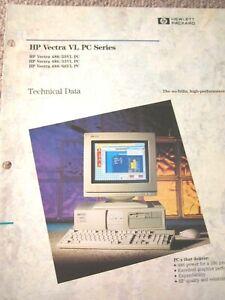 HP VECTRA COMPUTERS  VL SERIES