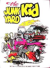 Rat Fink JUNK YARD KID Decal Sticker Hot Rod Gasser Car  Street Drag Racing