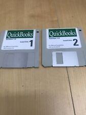 "VTG OrigiNal Quickbooks Version 1.0 Windows 95 Software 3 1/4"" Install Disk"