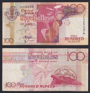 Seychelles 100 rupees 2001 BB/VF  A-02