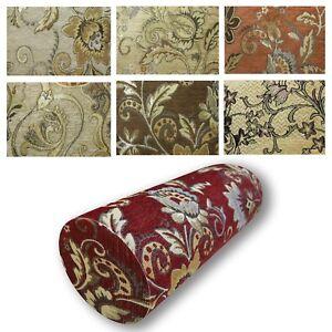 Bolster Cover*Damask Chenille Neck Roll Tube Yoga Massage Pillow Case Custom*Wk2