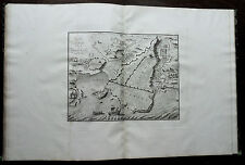 1819,D'anville:= PLAN DE LA VILLE DI SIRACUSA= SICILIA,ETNA.D/Foglio Cm51x35c