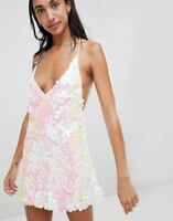 MOTEL ROCKS Finn Slip Dress in Oyster Shell (mr114)