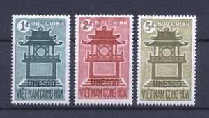1961 South Vietnam Stamps Temple Dedicated to Confucius Scott # 178-180 MNH
