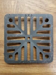 """6"""" Square Cast Iron Gully Grid Drain Cover Heavy Duty Black 150mm Forged"""