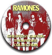 RAMONES PUNK ROCK CHITARRA INTAVOLATURE CANTO BOOK ANTHOLOGY CD SOFTWARE
