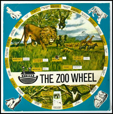 Volvelle  - 1960s Zoo Wheel - Mechanical - Mostly African Animals