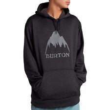Burton Oak Hoody Pullover - True Black Heather Grey All Sizes