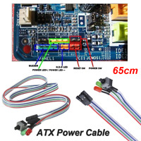 65cm ATX Computer Motherboard Power Cable 1 Switch On /Off/Reset w/ LED Light AU
