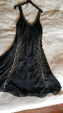 NEW Hand Beaded Black Dress -  Chilli Pepper dress size S