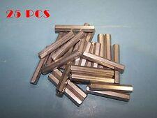 """25pcs 6-32 Thread F/F Aluminum Hex Standoffs 1-5/8"""" (1.625"""")L Standoff"""