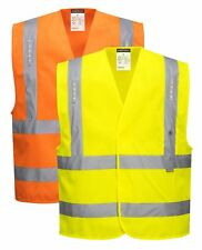 Portwest Vega LED Vest Hi Vis Safety Work Wear Waistcoat Jacket L470