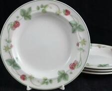 Wedgwood RASPBERRY Queen's Ware 4 Bread & Butter Plates GREAT CONDITION