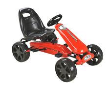 Kids Red Pedal Large EVA Wheel Sports Go Kart Ride On Childrens Cart