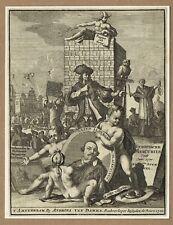 Original 1720 engraving from Europische Mercurius (European mercury)